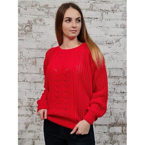 Джемпер 50557 цвет Ярко Красный
