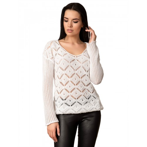 Джемпер 70513 (цвет Белый)