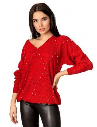 Джемпер 70514(цвет Красный)