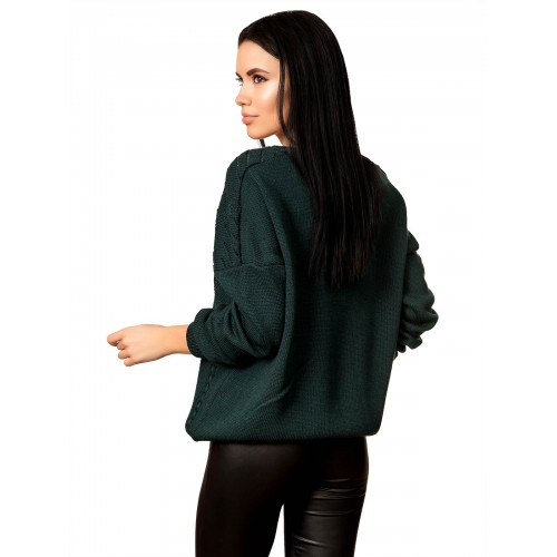 Джемпер 70522 (цвет Темный Зеленый)