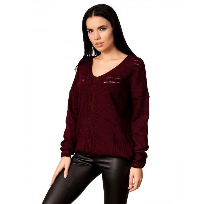 Джемпер 70522 (цвет Бордовый)