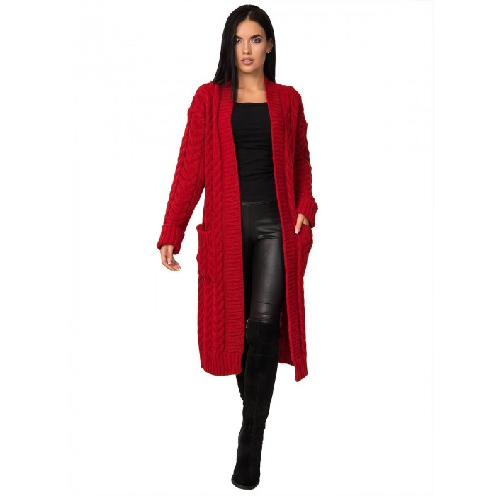 Кардиган50453(цвет Красный)