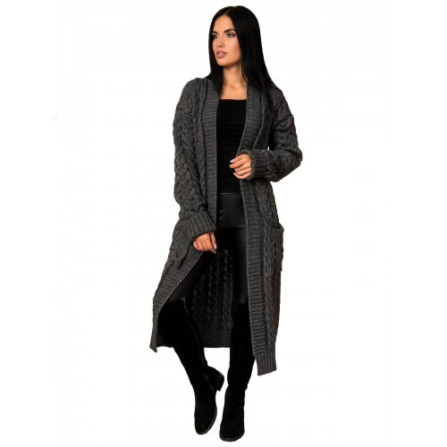 Кардиган50453(цвет Темный-Серый)
