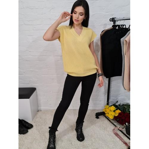Жилетка 70571 цвет Желтый