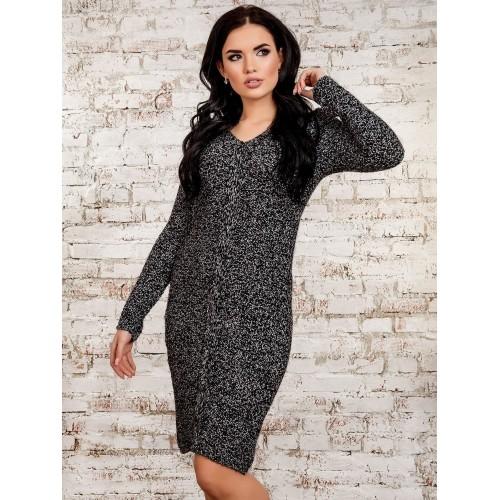 Платье30273(меланж-черный)