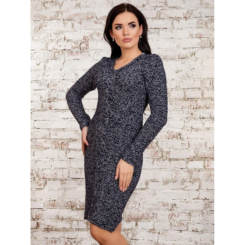 Платье30273(меланж-синий) PLV