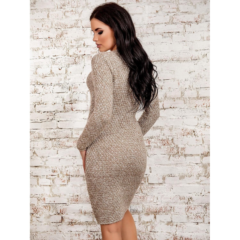 Платье30273(меланж-бежевый) PLV
