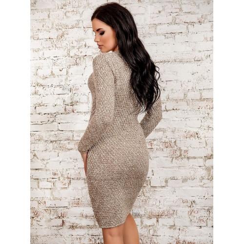 Платье30273(меланж-бежевый)