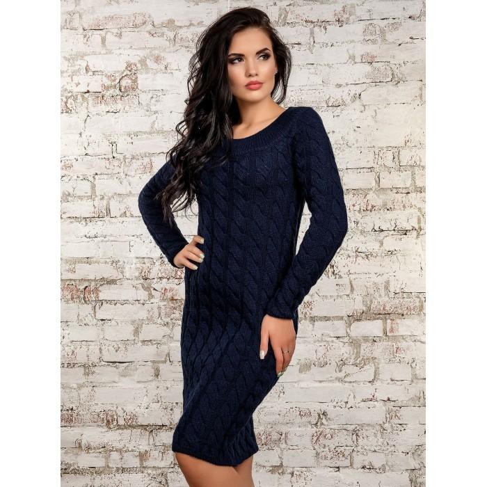 Платье50247(темно-синий)