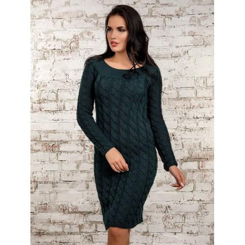 Платье50247(темно-зеленый)