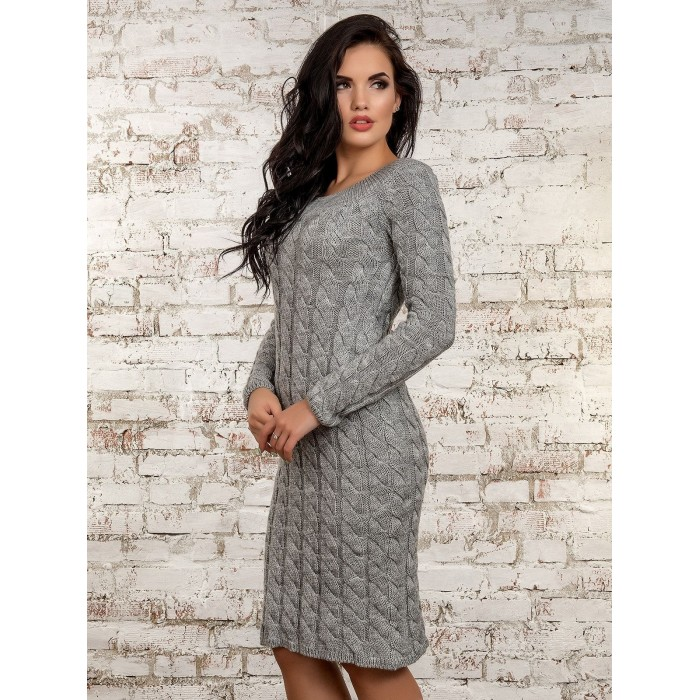 Платье50247(серый)