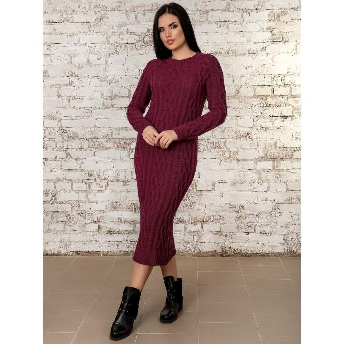 Платье50277(бордовый)