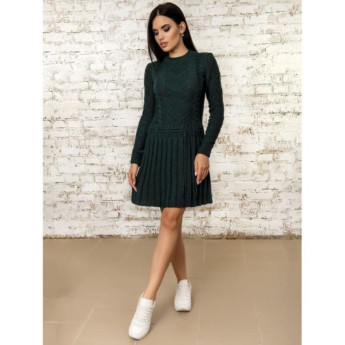 Платье50278(Темно-Зеленый)
