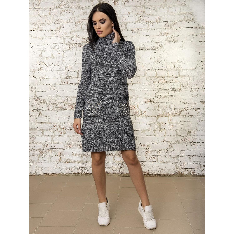 Платье50303(цвет Графит-Меланж) PLV