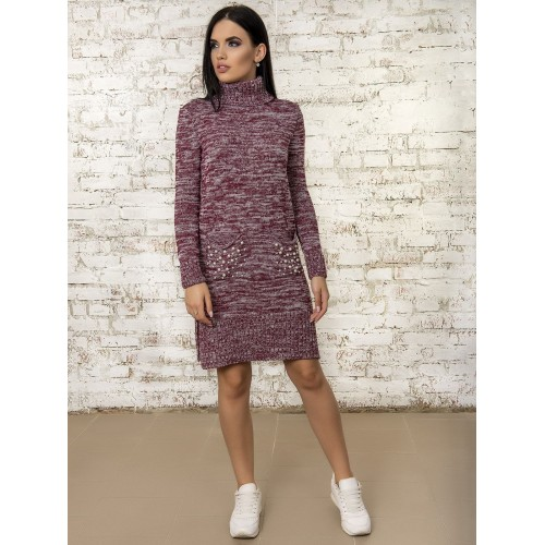 Платье50303(цвет Бордовый-Меланж)