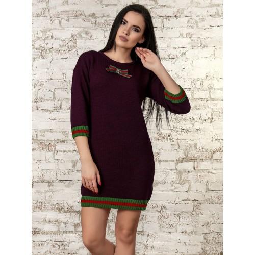Платье (бордовый) 70289