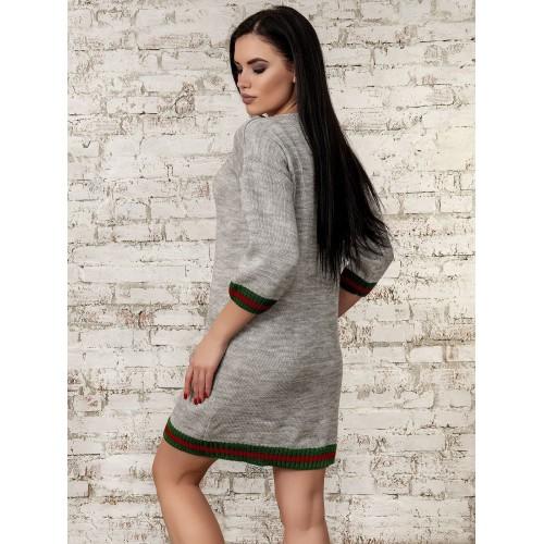 Платье светло серый 70289