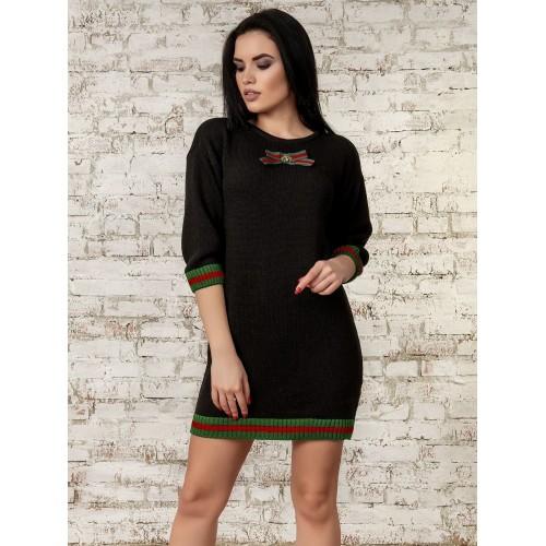 Платье черный 70289