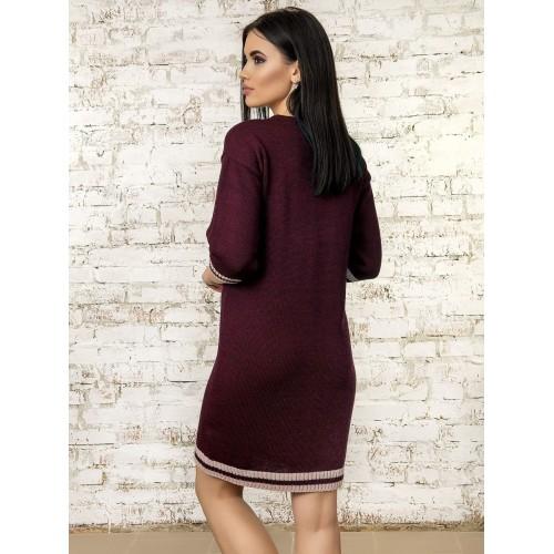 Платье70315(цвет Бордовый)