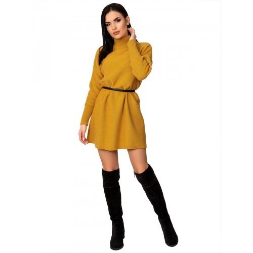 Платье70425(цвет Горчичный)