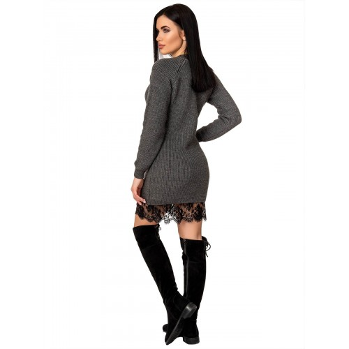 Платье70428(цвет Темный-Серый)