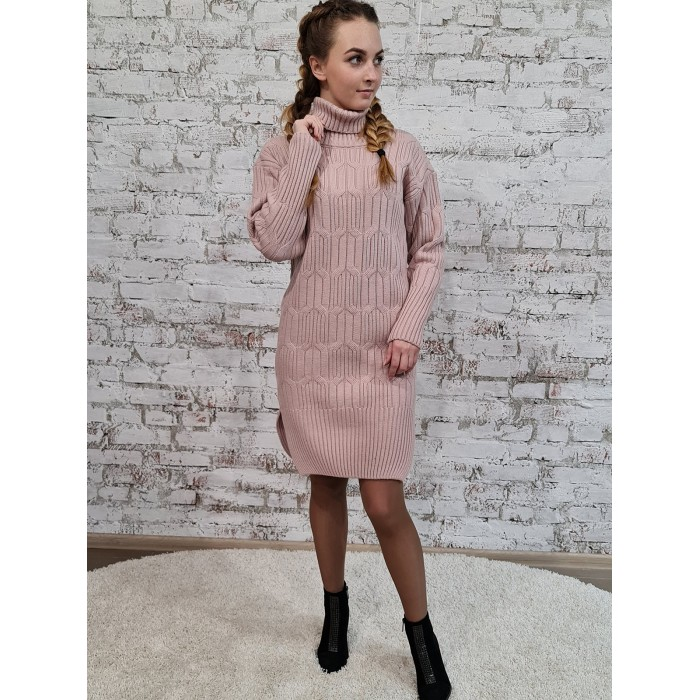 Платье 70551 цвет Светлый Пудровый