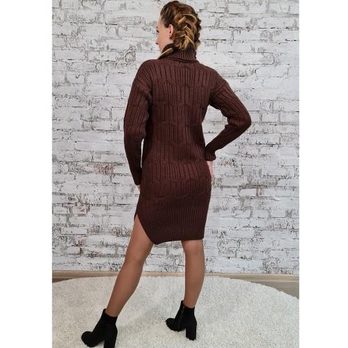 Платье 70551 цвет Шоколадный