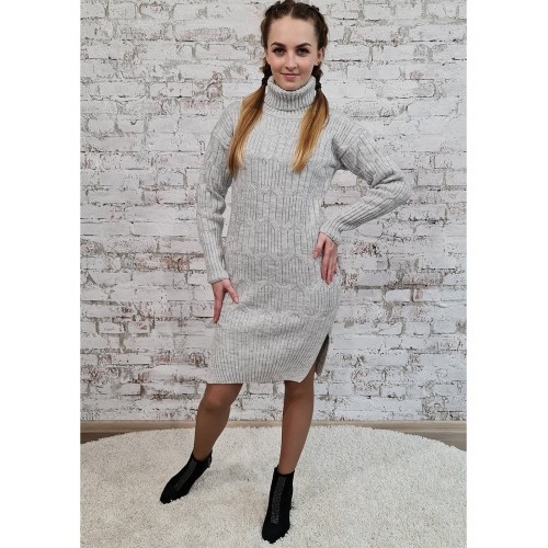 Платье 70551 цвет Светлый Серый