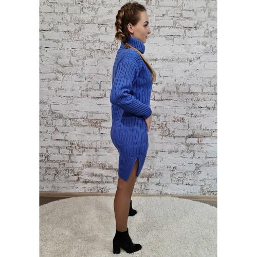 Платье 70551 цвет темный Голубой