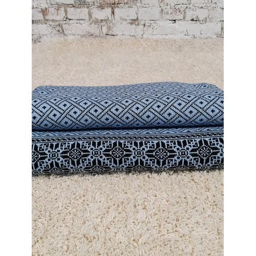 Плед Двухсторонний70446(цвет Голубой-Черный) размер200*200