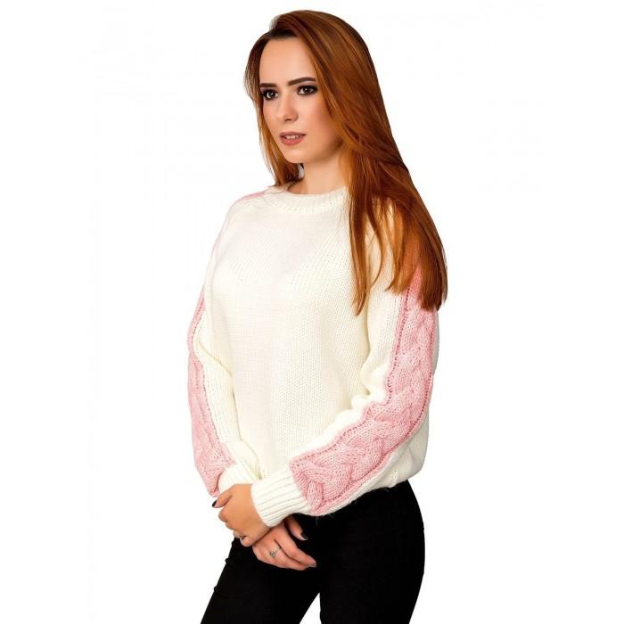 Свитер30481(цвет Молочный-Розовый)