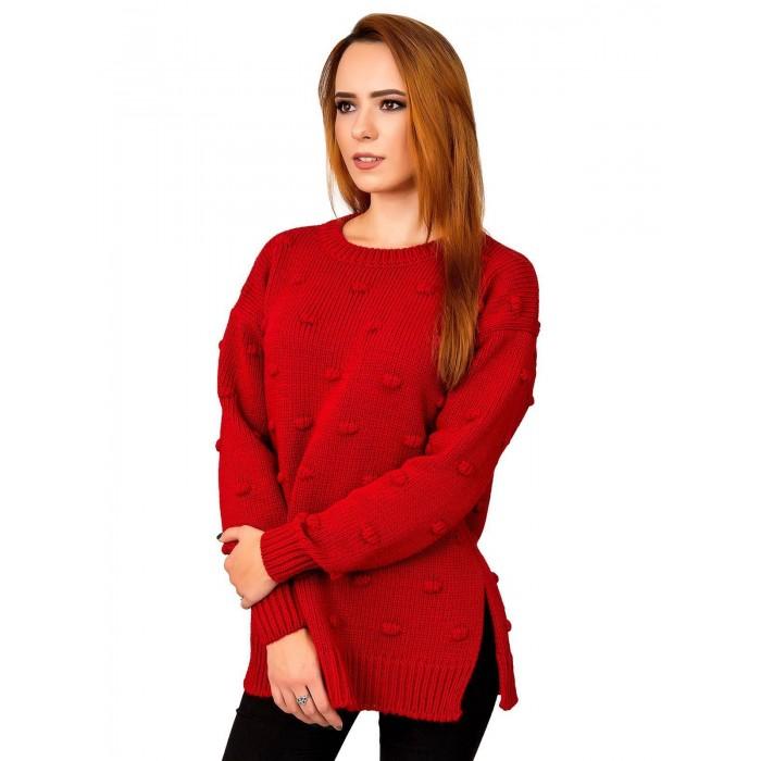 Свитер30483(цвет Красный)