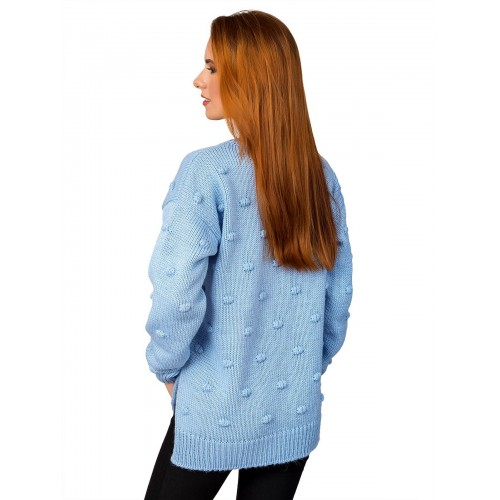 Свитер30483(цвет Голубой)