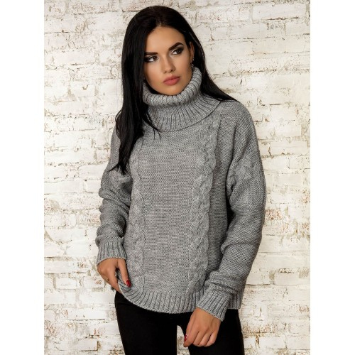 Свитер50319(цвет-Серый)