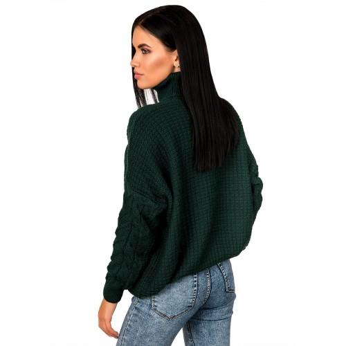 Свитер50459(цвет Темный-Зеленый)