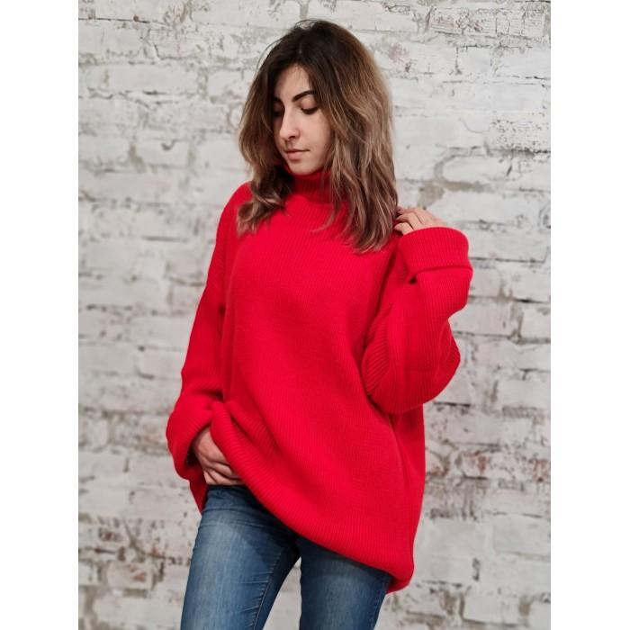 Свитер50482(цвет красный)