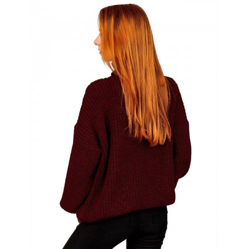 Свитер50489(цвет Бордовый)