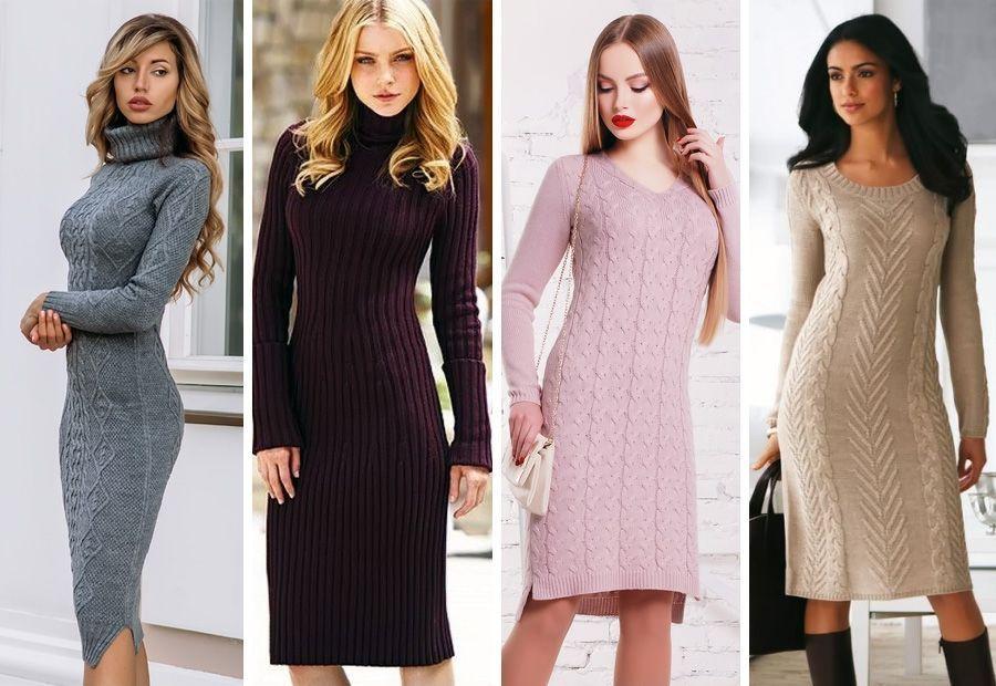 Как подобрать вязаное платье для прогулки